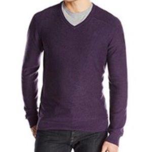 Brooks Brother Saxxon Wool Purple Sweater size L